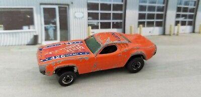 Vintage Hot Wheels Dixie Challenger 426 Hemi Orange w/Flag 1983 Malaysia 3364