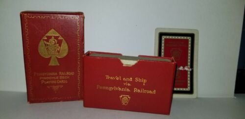 Vintage Pennsylvania Railroad Deck Cards Pinochle Broadway Limited Route