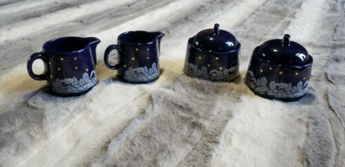 Waechtersbach Germany Winter Dreams Sugar & Creamer Sets