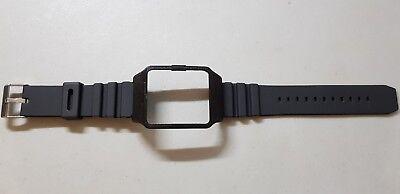 Sony SmartWatch 3 SWR50 Black Housing (adapter) & Black Rubber Strap
