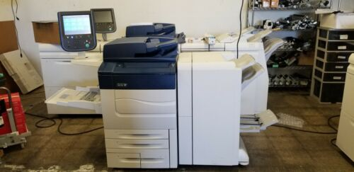 Xerox C60 Copier Printer  Booklet Finisher  Fiery Finisher meter 12k