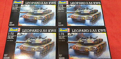 1:72 Revell 4 x 03105 LEOPARD 2 A5 KWS Kampfpanzer Konvolut