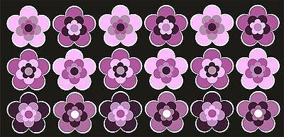 18 Stück ca. 5 cm Retro Retrostyle Blumen Blume Aufkleber AN1544