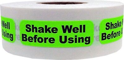 Shake Well Before Using Stickers 0.5 X 1.5 Inches Wide 500 Labels On A Roll