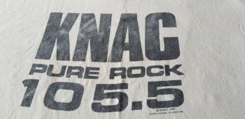 KNAC VINTAGE TEE SHIRT 1989 105.5 HEAVY METAL NOT RESPONSIBLE XL METAL RARE