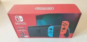Nintendo Switch Neon Joy Con Console Brand New