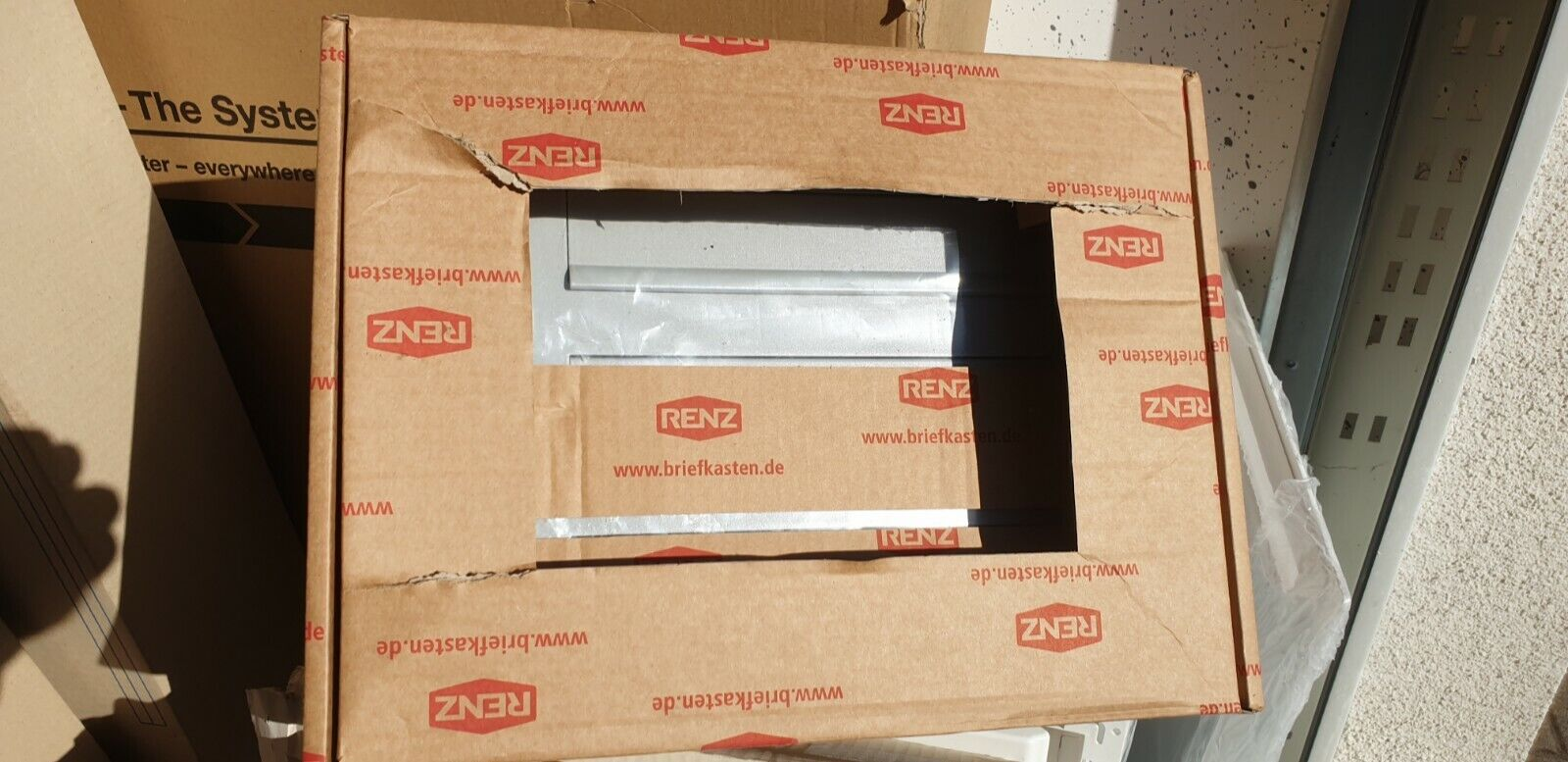 Renz Stahl-Durchwurfbriefkasten 3-fach