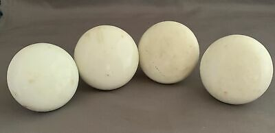 Lot of 4 Antique White Porcelain Ceramic Doorknobs Door Knobs