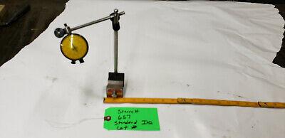 Starrett 657 Magnetic Holder W Standard D1-20241-m Indicator .0001 Res. Lot2