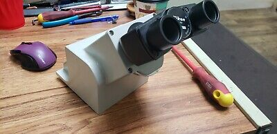 Nikon Diaphot Microscope Head With Cbo Selection Aperture Includes Neck Ext