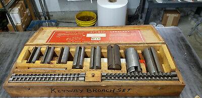 Dumont No. 4-a Minute Man Keyway Broach Set In Wood Box. Shelf 8 Basement