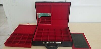Professional Jewelry Display Travel Showcase For Direct Sale Samples. 2 Tiers.