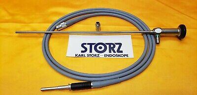 Storz 26046 Aa 5mm X 0 Degree Laparoscope 30cm Autoclave495nl Fiber Optic Cable