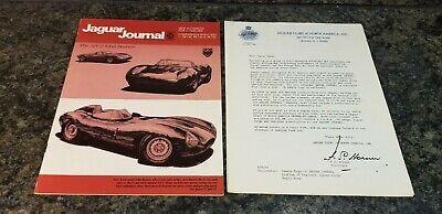 Vintage Jaguar Journal Fall 1977 w/Letter Jaguar Clubs of North America, Inc.