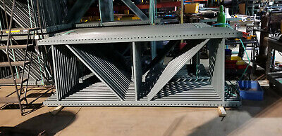 10 X 42 Teardrop Pallet Rack Upright 3x3 Post Color-green