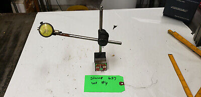 Starrett 657 With Federal B5m Magnetic Indicator Base Gage Holder Lot4