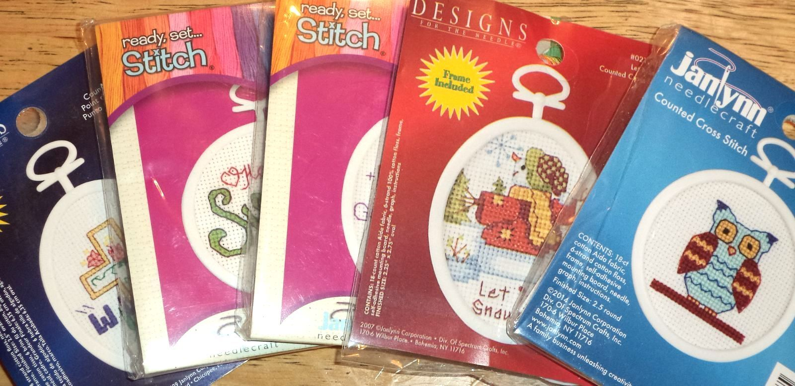 Janlynn Mini Counted Cross Stitch Kits EASY Great for Kids,