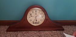 River City Clocks Walnut Mantel Clock, Brown
