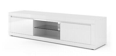 Bello Glanz (LOWBOARD TV STAND Kommode BELLO V 180 cm Sideboard weiss mat / Hochglanz)