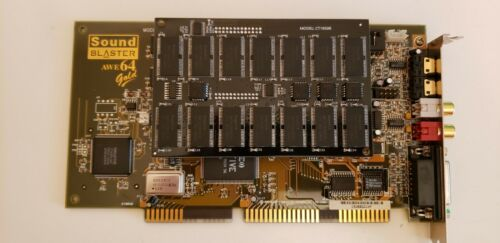 Creative AWE64 Gold CT4390+ memory module CT1950R 28mb