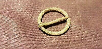 Superb rare intact Ancient Viking tiny bronze buckle Please read descriptionL272