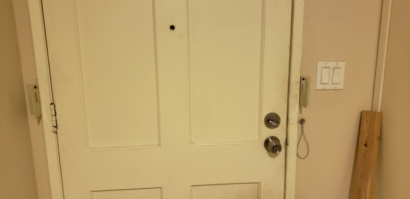 Door Break in Protection brackets, heavy duty steel, made in USA