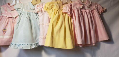 Lot Of Five Vintage Infant Girl Dresses