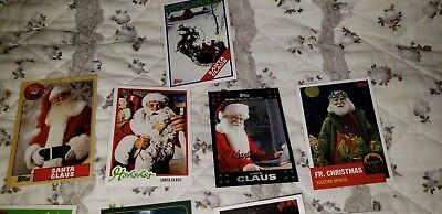 2007 TOPPS RARE SANTA CLAUS CHRISTMAS BASEBALL CARD 15 CARD LOT $$$$$$$$ - Baseball Christmas