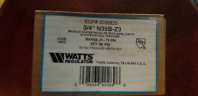 Watts 34 In. Water Pressure Reducing Valve N35b-z3