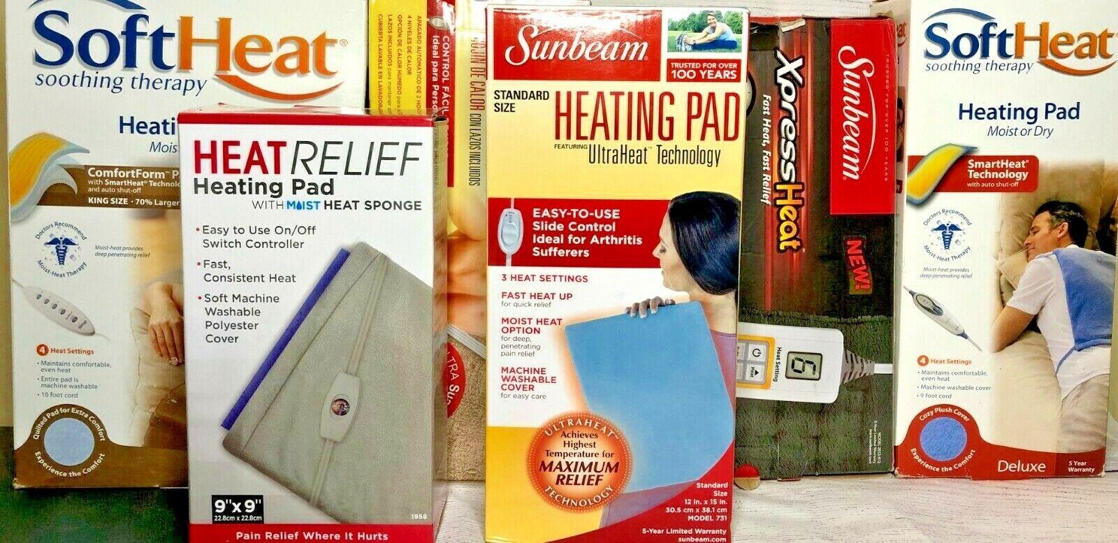 Heating Pad Sunbeam Soft Heat King XL Standard Large Small B