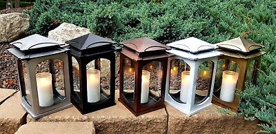Grablaterne Sockel Grablampe Lampe Grableuchte Grablicht Herz Rosen Kerze Neu 22
