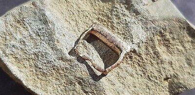 Superb rare Medieval bronze buckle. Please read description. L19j