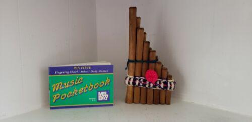 PanFlute Folk Instrument Wood Woodwind Mel Bay Music Pocketbook Instruction