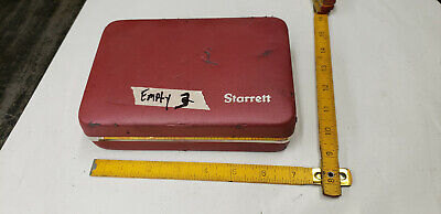 Empty Starrett Last Word Indicator Storage Carry Box Part With Foam. Lot3