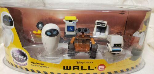 Disney Store Exclusive Pixar WALL-E 6 Figurine Cake Topper Set RARE NEW