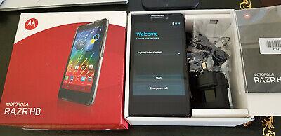 MOTOROLA RAZR HD SMARTPHONE (UNLOCKED) 16GB ROM + 8GB SD CARD + PAYG O2 SIM