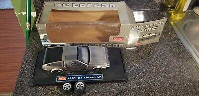 SunStar 1:18 Scale DMC-12 DeLorean, Used But Great Shape, W/Box, Parts Car