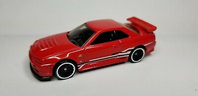 2013 Hot Wheels Nissan Skyline GT-R (R34) Red HW Showroom Asphalt Assault JDM