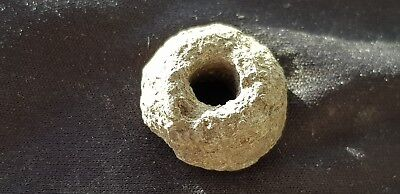 Rare Viking lead alloy spindal whorl in uncleaned condition found in EnglandL86b