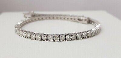 4.00 Carat Diamond Tennis Bracelet 14K White Gold E