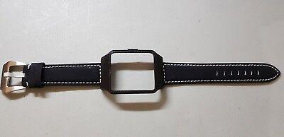 Sony SmartWatch 3 SWR50 Black Housing (Adaptor) & Black Matte Leather Strap