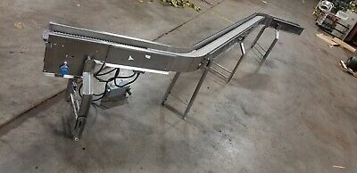 Stainless Conveyor S Curve Shape 6 Plastic Belt 226 Long Ironman 2 Hp