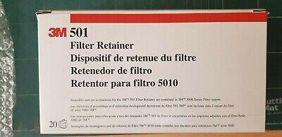 3M 501 FILTER RETAINER, BOX OF 20