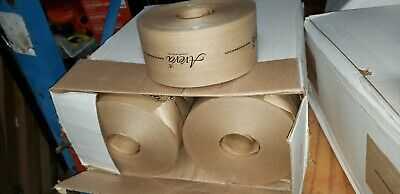 20 Rolls 3 X 450 Ft Reinforced Kraft Gummed Paper Tape Brown Aveva