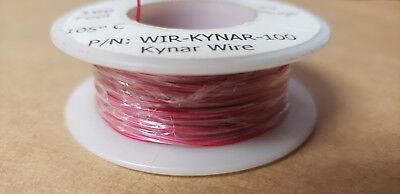 Red Kynar Wire Wir-kynar-100 30awg 100ft