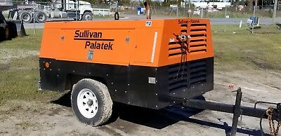Sullivan D185 Towable Air Compressor Model D185pjdsb Great Shape