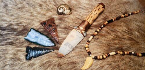 Madagascar Polychrome Jaspar Flint Knapped Primitive Hunting Dagger Shaman Knife