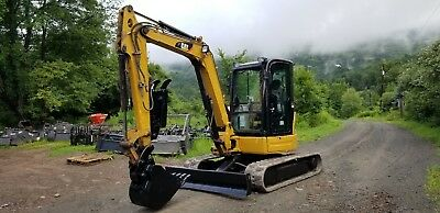 Caterpillar 304c Cr Excavator Cab Hydraulic Thumb Ready To Work In Pa We Ship