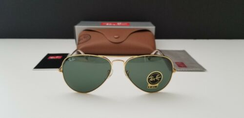 Ray Ban Aviator RB3025 L0205 Sunglasses G15 Green 58mm Lens