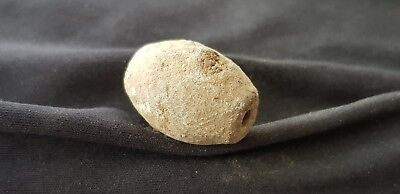 Very rare large Saxon warrior heavy lead bead uncleaned con found Uk 1970 L82L